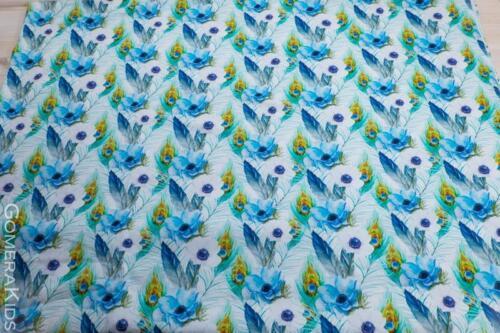 Dressikangas trikotaaž Sinised suled lilled