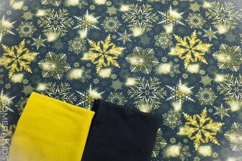 Puuvillane  trikotaaž kuldsed tähed